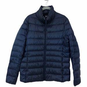 Uniqlo Ultra Lightweight Down Coat Dark Blue Sz Lg